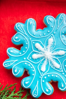 Gingerbread christmas cookie new year treat hand painted sweet dessert gingerbread man ginge meal