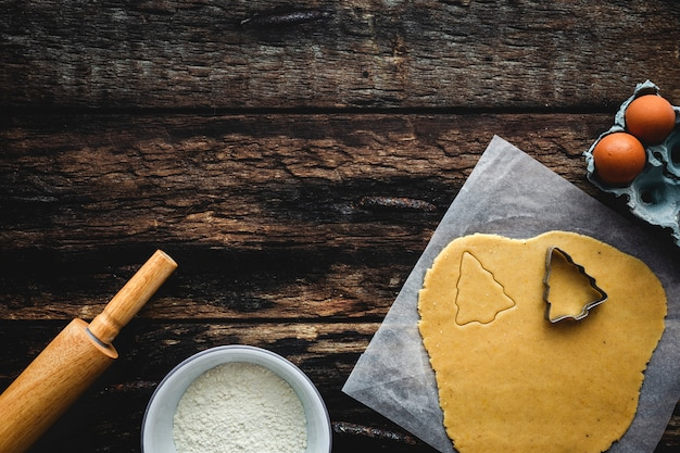 Gingerbread cookie dough for christmas