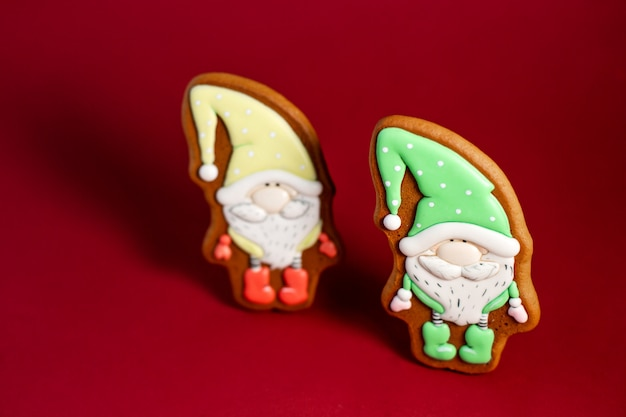 Gingerbread cookie of fairytale gnome