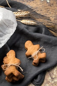 Gingerbread cookies in the shape of a doll