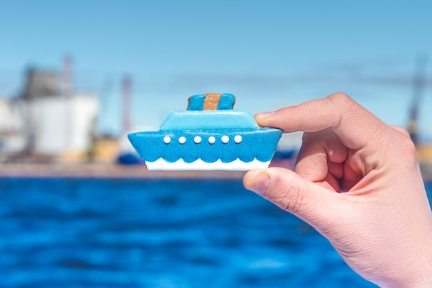 Пряники в форме корабля, концепция scm