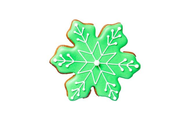 ジンジャーブレッドデザートクッキークリスマススイーツテーブル上の新年の食事スナックコピースペースフード
