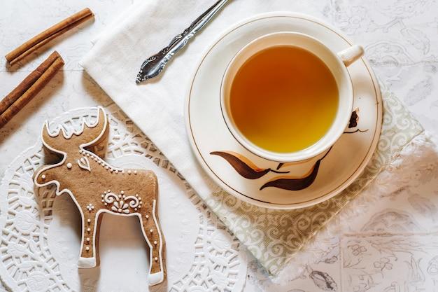 Gingerbread elk cookie