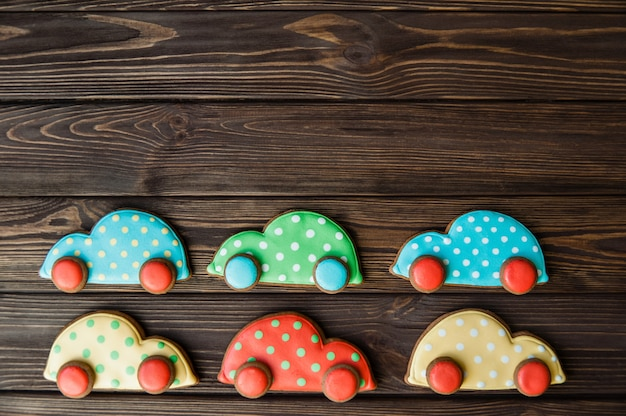 Gingerbread in the form of machines