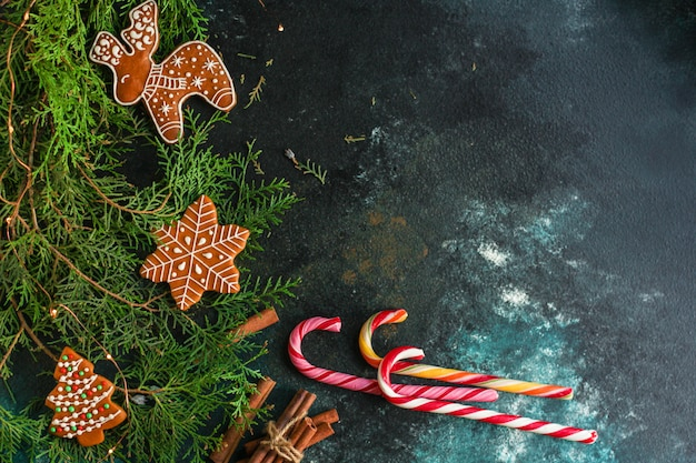 Gingerbread. gifts and holiday, christmas happy new year