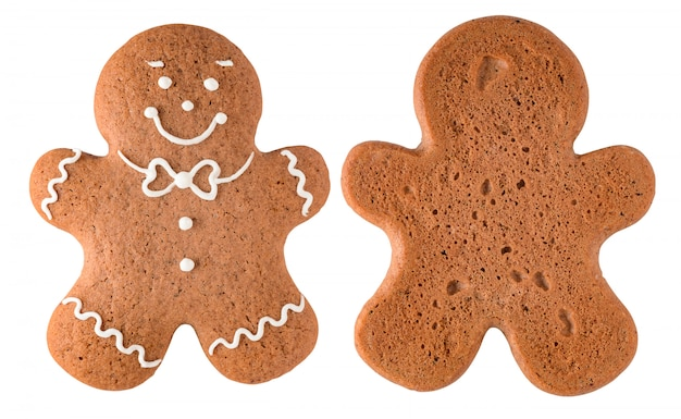 Gingerbread man isolated on white