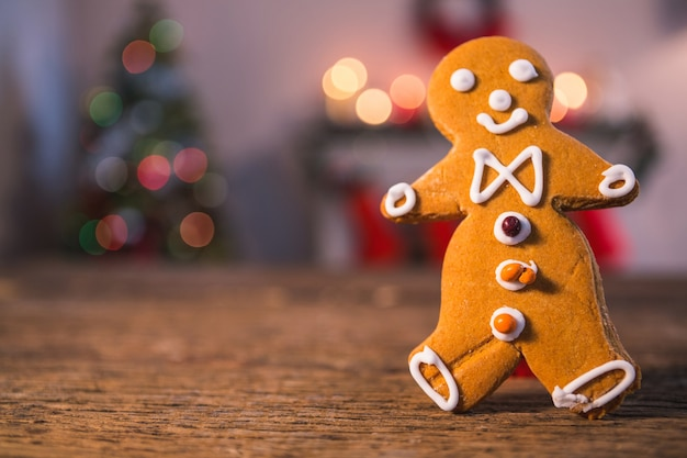 Gingerbread man with blurred background