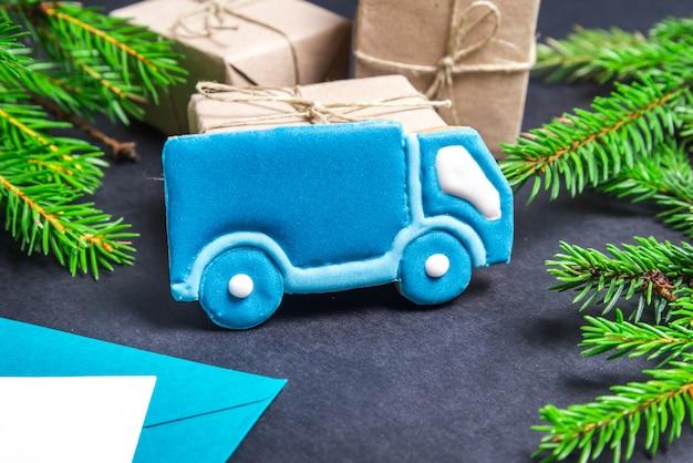 Пряничный след, рождественская концепция