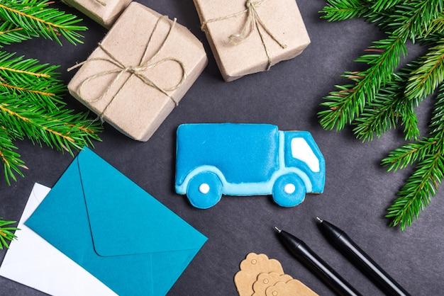 ジンジャーブレッドトラック、クリスマスコンセプト
