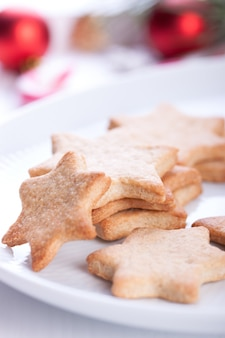 Gingerbread with blurred background