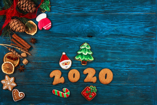 Gingerbreads for new 2020 background