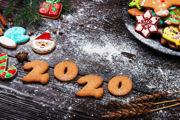 Gingerbreads for new 2020 year