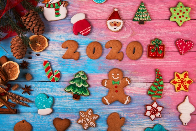 Gingerbreads for new 2020 years