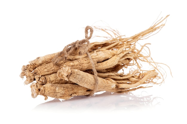 Ginseng isolated on white background.