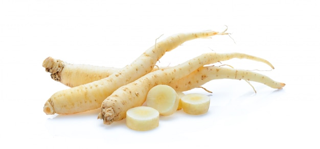 Ginseng isolated on white space
