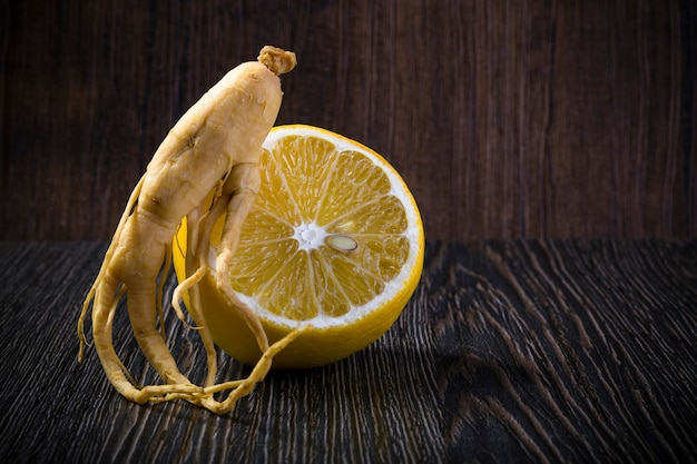 Ginseng with lemon