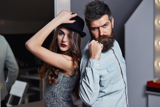 소녀와 수염 난 남자 또는 행복한 연인 데이트