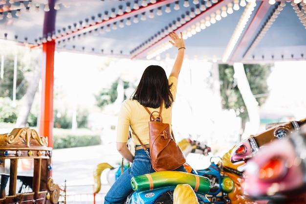 Girl on a carrousel