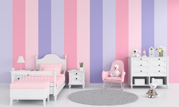 Girl child bedroom interior