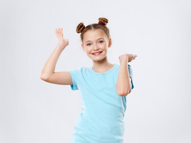 Girl child posing happy