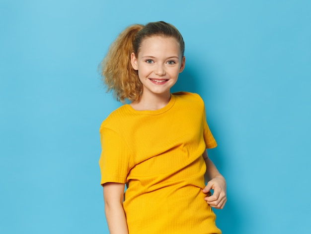 Girl child posing, portrait