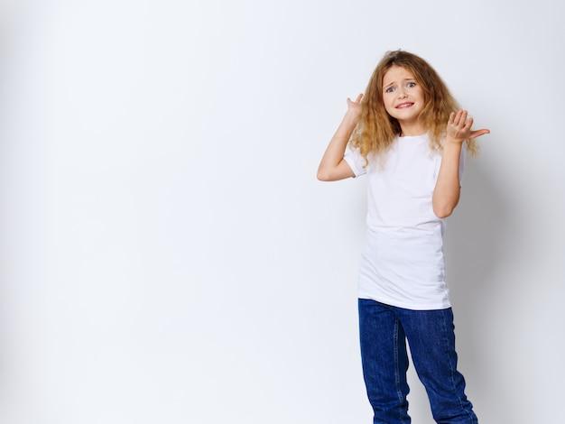 Girl child posing
