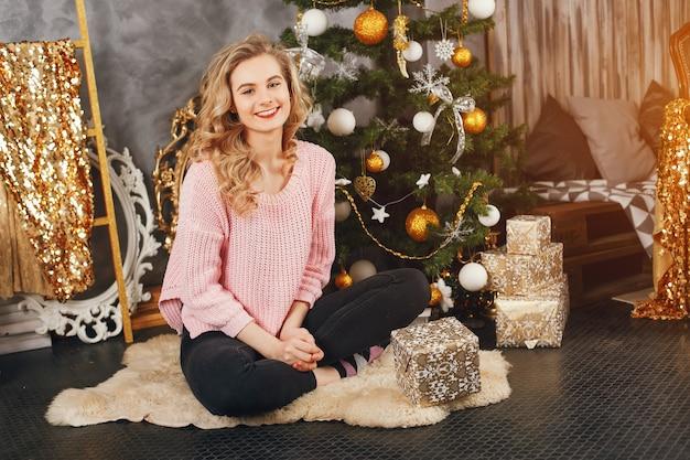 Girl and christmas