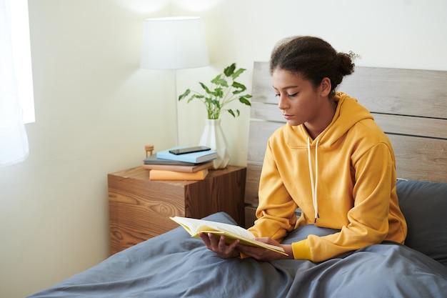 Girl in comfy hoodie