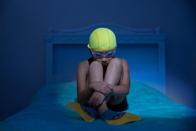 Girl in depression due to quarantine in mexico