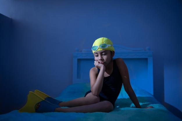 Girl in depression due to quarantine