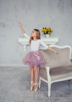 Girl dreams of becoming ballerina