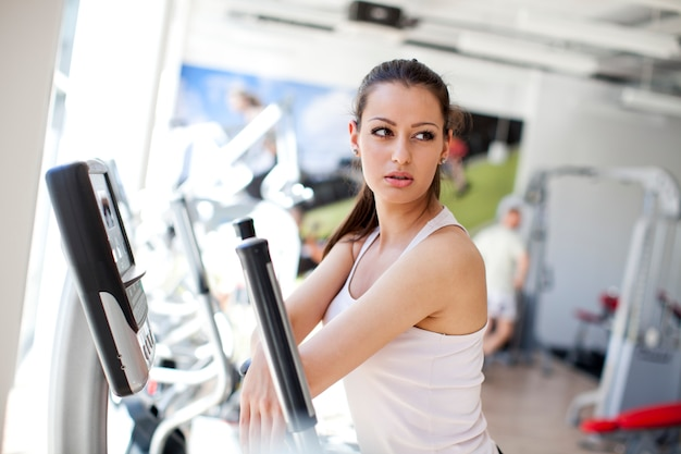 Girl at the gym