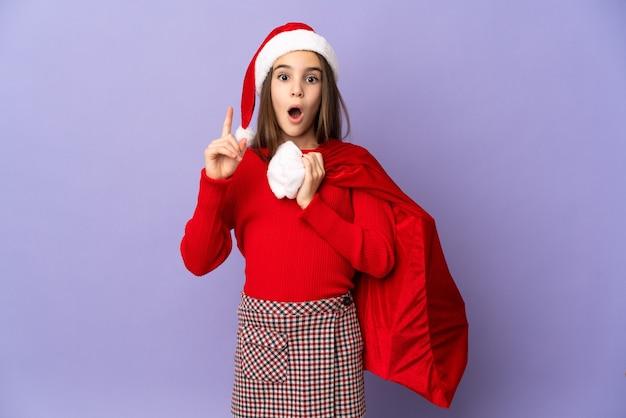 크리스마스 휴일에 소녀