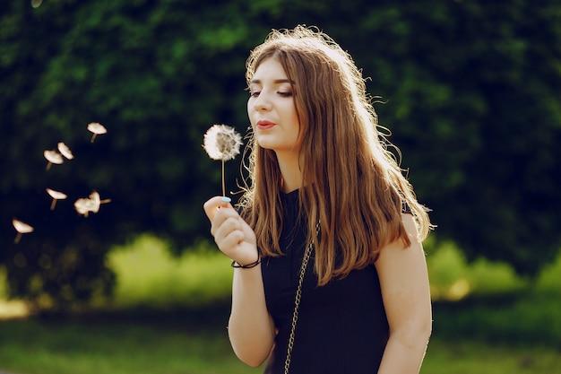 공원에서 소녀