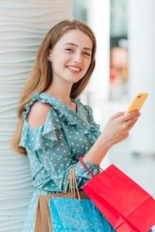Girl looking at camera medium shot