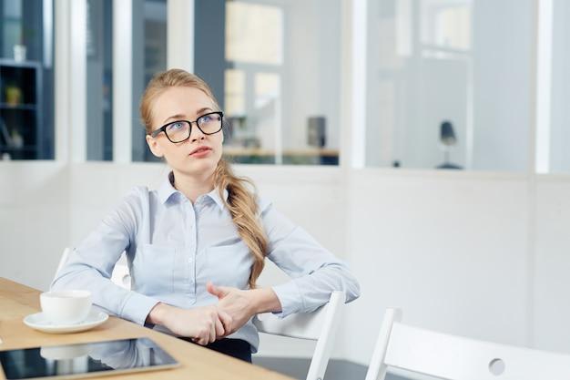 Girl in office