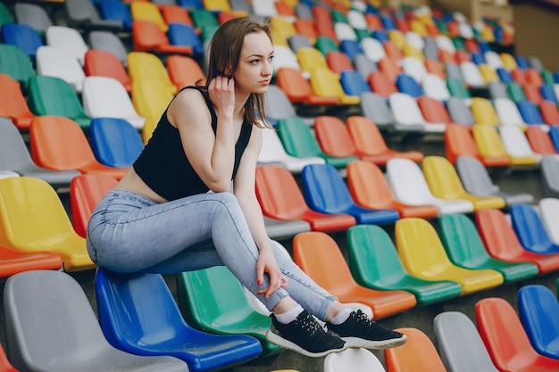 スタジアムの女の子
