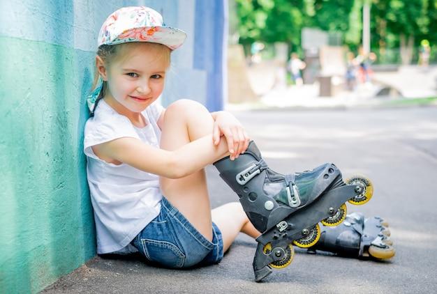 ローラースケートの女の子