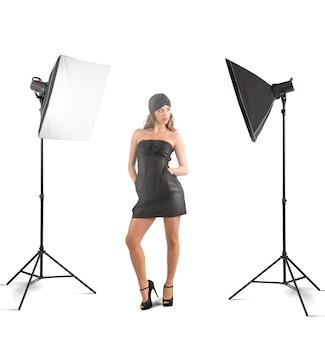 女の子の写真スタジオ