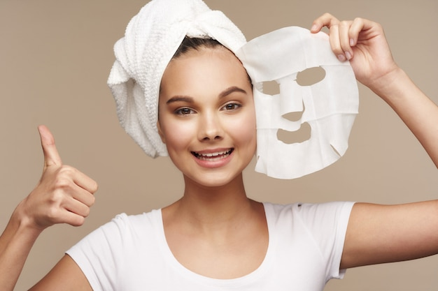 Girl portrait skin care