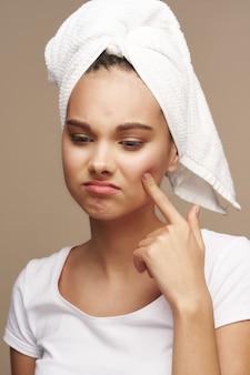 Girl portrait studio skin care