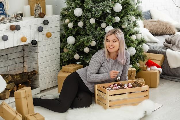 Girl preparing for christmas