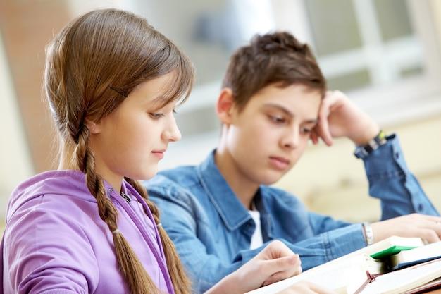 Girl reading an entertaining book