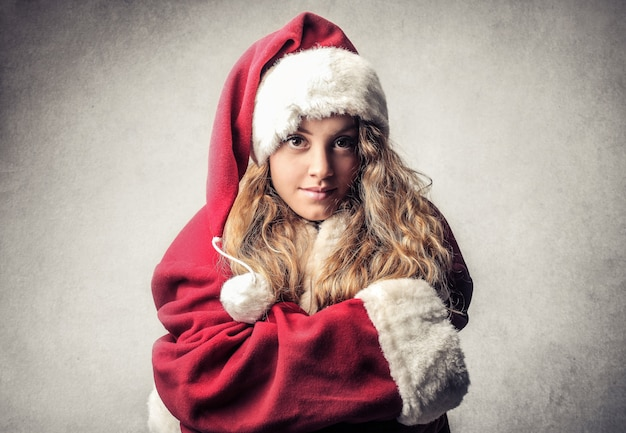 Girl in santa costume