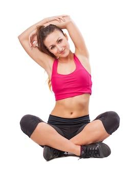 Girl stretching back