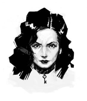 Girl in style noir.