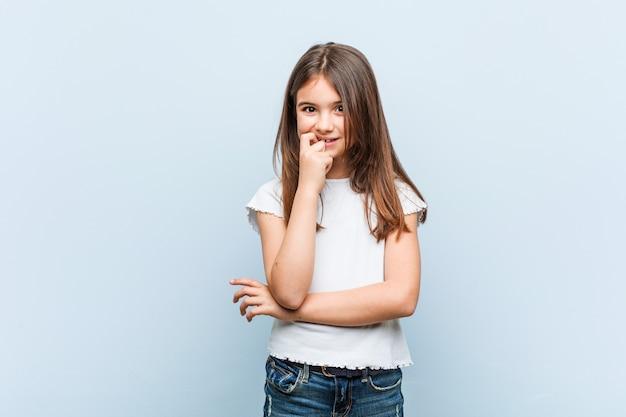 Girl thinking about something
