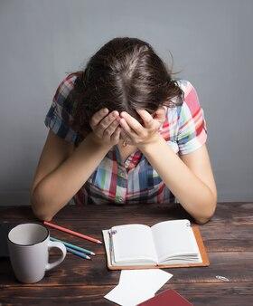 소녀 피곤한 학생 잠에 빠지다, 연구 세션