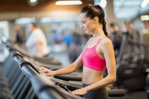 Girl on treadmill
