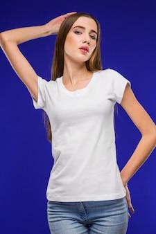Girl in a tshirt